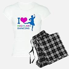 I LOVE highland dancing pin Pajamas