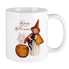 Vintage Halloween witch Mugs