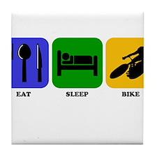 Eat Sleep Bike Tile Coaster