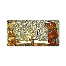 Klimt - The Tree of Life Aluminum License Plate