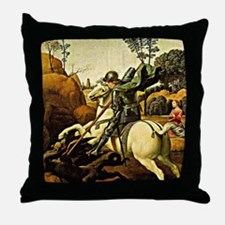 Saint George and the Dragon, painting Throw Pillow