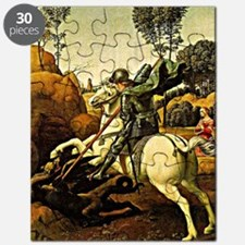 Saint George and the Dragon, painting by Ra Puzzle