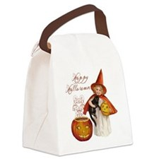 Vintage Halloween witch Canvas Lunch Bag