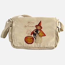 Vintage Halloween witch Messenger Bag