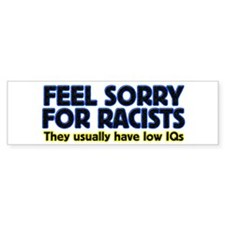 ...sorry for racists... Bumper Bumper Sticker