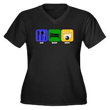 Eat Sleep Bowl Plus Size T-Shirt