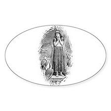 Freyja, Goddess of Love & War Oval Decal