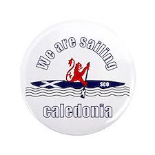 """Scotland Caledonia canoe 3.5"""" Button"""