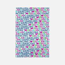 I LOVE highland dancing print Rectangle Magnet