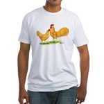 Buff Leghorn Chickens Fitted T-Shirt