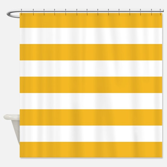 red white striped shower curtain. Yellow and white stripe Shower Curtain Stripes Curtains  CafePress