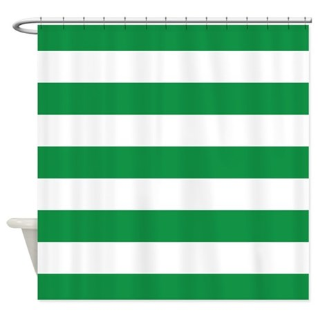 green and white stripe shower curtain by inspirationzstore. Black Bedroom Furniture Sets. Home Design Ideas