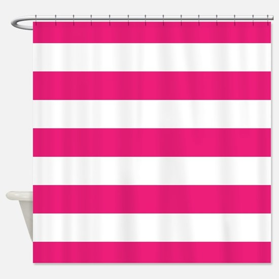 Hot pink and white stripe Shower CurtainPink Horizontal Stripes Shower Curtains   CafePress. Pink And White Striped Shower Curtain. Home Design Ideas