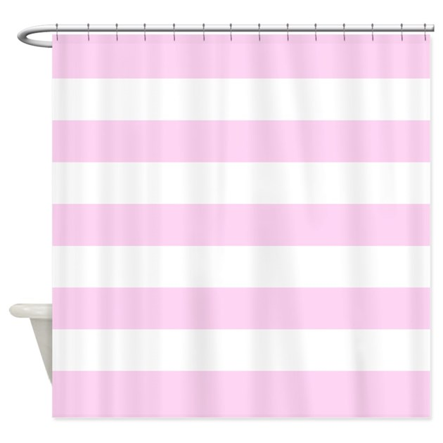 Pink Stripe Shower Curtain By InspirationzStore