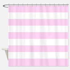 Pink stripe Shower Curtain