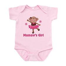 Mamaw's Girl monkey Infant Bodysuit