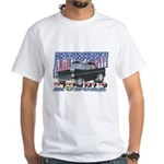 Vintage 1955 Chevy Muscle Car White T-shirt