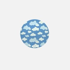 Swirling Clouds Mini Button