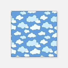 Swirling Clouds Square Sticker 3 x 3