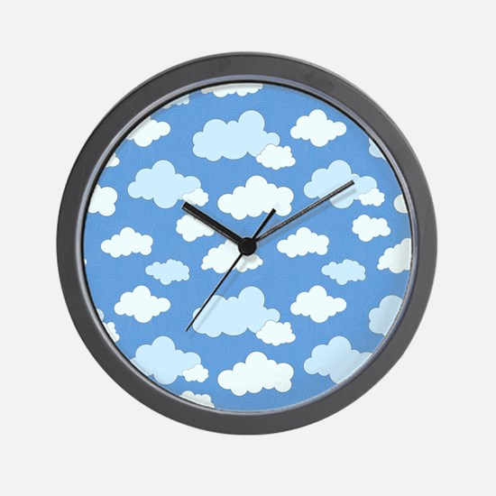 Swirling Clouds Wall Clock