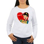 Accordian Valentine Women's Long Sleeve T-Shirt