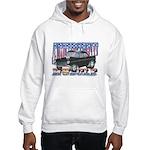 Vintage 1955 Chevy Muscle Car Hooded Sweatshirt
