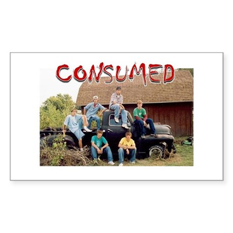CONSUMED Rectangle Sticker