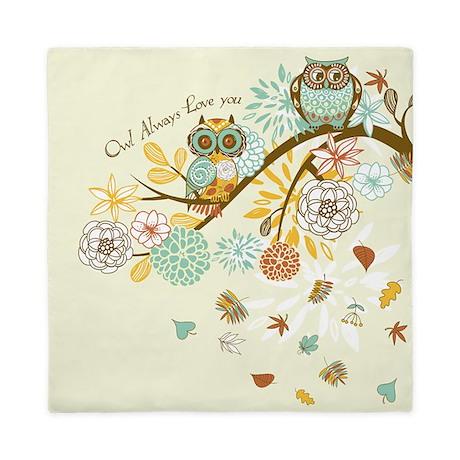 Autumn Owl Queen Duvet