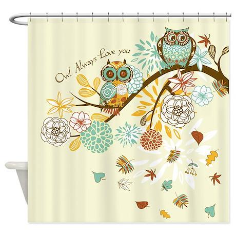 Autumn Owl Shower Curtain