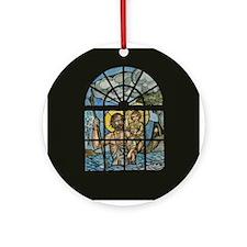 Saint Christopher Round Ornament