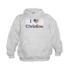 I Love Christine Hoodie