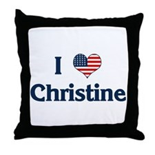 I Love Christine Throw Pillow