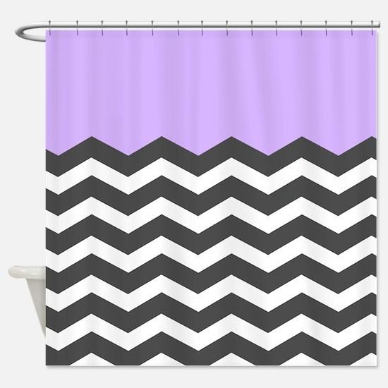 black white chevron shower curtain. Lilac purple black white chevron Shower Curtain White Chevron Curtains  CafePress