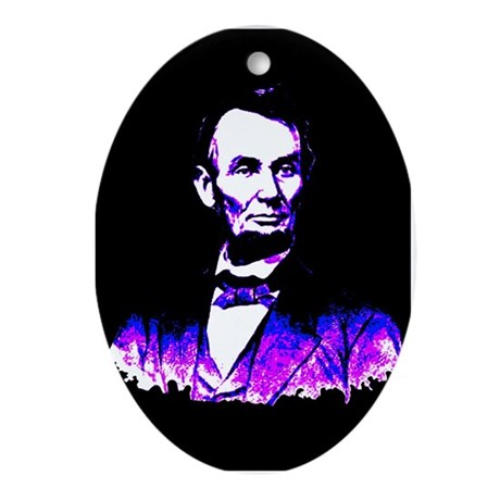 President Abe Lincoln Oval Ornament