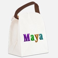 Maya Shiny Colors Canvas Lunch Bag