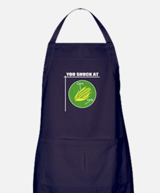 You Shuck at Corn Hole Apron (dark)