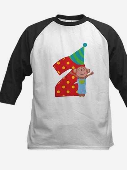 2nd Birthday Dino Kids Baseball Jersey
