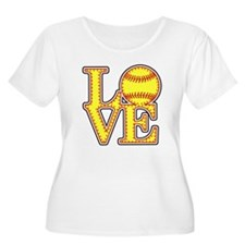 Love Softball Original Plus Size T-Shirt