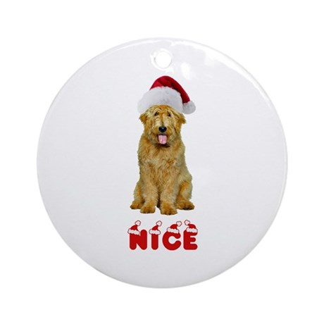 Nice Goldendoodle Ornament (Round)