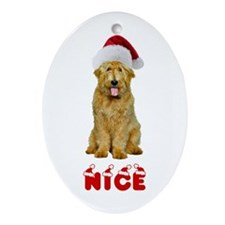 Nice Goldendoodle Ornament (Oval)