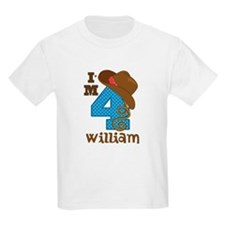 4th Birthday Cowboy Personalized T-Shirt