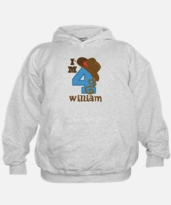 4th Birthday Cowboy Personalized Hoodie