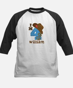 4th Birthday Cowboy Personalized Tee