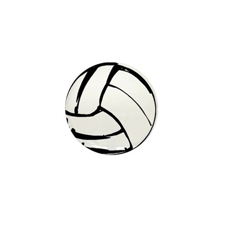 Simple Volleyball Mini Button (100 pack)