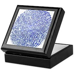 Blue Fingerprint Keepsake Box