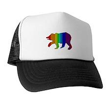 MOSAIC RAINBOW WALKING BEAR Trucker Hat