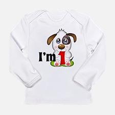 1st Birthday Puppy Long Sleeve Infant T-Shirt