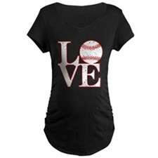 Love Baseball Classic Maternity T-Shirt