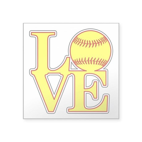 Love Softball Original Sticker