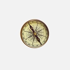 Vintage Compass Mini Button